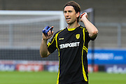 Sean Barker trains with the Burton team ahead of the EFL Cup match between Burton Albion and Bury at the Pirelli Stadium, Burton upon Trent, England on 10 August 2016. Photo by Aaron  Lupton.