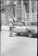 Bomb Damage, Green St. Court.15/07/1976.07/15/1976.15th July 1976..Photograph of Justice O' Hogan getting into a car after the bombing of the Special Criminal Court, Green Street.