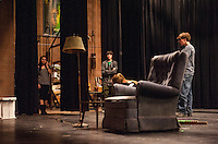 Almost, Maine dress rehearsal with Gilford High School performing arts.  Karen Bobotas/for the Laconia Daily Sun)
