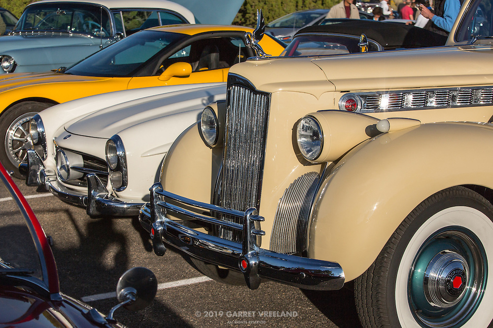 Packard and Mercedes await the start of the 2012 Santa Fe Concorso High Mountain Tour.