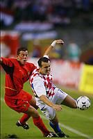Fotball<br /> EM-kvalifisering<br /> 10.09.2003<br /> Belgia v Kroatia<br /> NORWAY ONLY<br /> Foto: Phot News/Digitalsport<br /> <br /> ERIC DEFLANDRE / MILAN RAPAIC