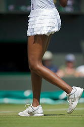 LONDON, ENGLAND - Tuesday, June 29, 2010: The frilly skirt of Venus Williams (USA) during the Ladies' Singles Quarter-Final match on day eight of the Wimbledon Lawn Tennis Championships at the All England Lawn Tennis and Croquet Club. (Pic by David Rawcliffe/Propaganda)