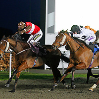 Fab Lolly and Joe Fanning winning the 5.40 race