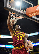 Nov. 09, 2012; Phoenix, AZ, USA; Cleveland Cavaliers forward Alonzo Gee (33) lays up the ball against the Phoenix Suns during the first half at US Airways Center. Mandatory Credit: Jennifer Stewart-US PRESSWIRE.