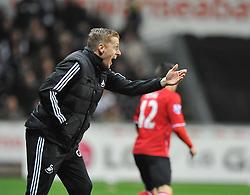 Swansea City Head Coach, Garry Monk - Photo mandatory by-line: Alex James/JMP - Tel: Mobile: 07966 386802 08/02/2014 - SPORT - FOOTBALL - Swansea - Liberty Stadium - Swansea City v Cardiff City - Barclays Premier League