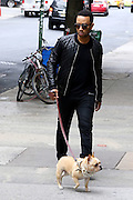 May 18, 2016 - New York, NY, USA - Singer John Legend walks his dog Pippa, who sports a fancy pearl collar<br /> ©Exclusivepix Media