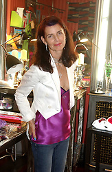 NATHALIE HAMBRO at a launch preview sale of Nathalie Hambro's new line of fashion accessories 'Full of Chic' held at her home 63 Warwick Square, London SW1 on 5th May 2005.<br />