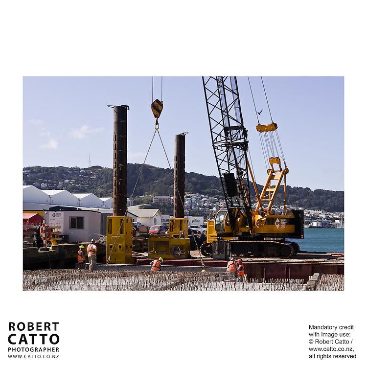 Brian Perry Civil / Fletcher Construction site at Centreport, Wellington New Zealand.