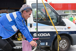 Sari Saarelainen prepares for the UCI Road World Championships Elite Women's Individual Time Trial 2017 a 21.1 km time trial in Bergen, Norway on September 19, 2017. (Photo by Sean Robinson/Velofocus)