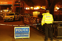 © Licensed to London News Pictures. 06/03/2018. Salisbury, UK. The scene in Salisbury as a police cordon has been extended where former Russian spy Sergei Skripal and his daughter were taken after becoming ill with suspected poisoning. The couple where found unconscious on bench in Salisbury shopping centre. Specialist units have been called in to deal with any possible contamination. Photo credit: Peter Macdiarmid/LNP