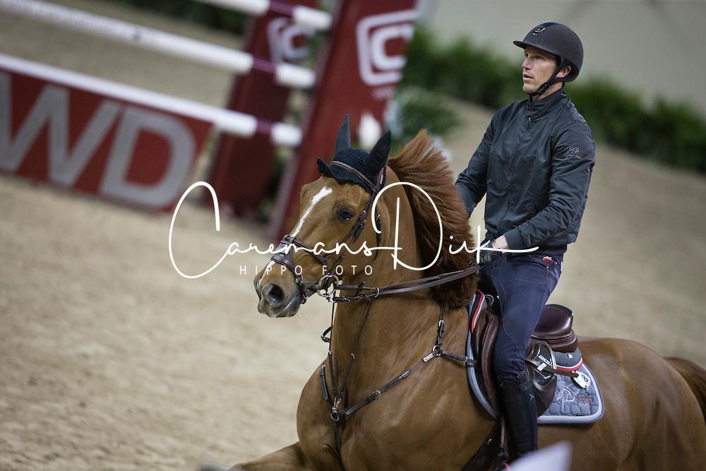 Staut Kevin, (FRA), Qurack de Falaise HDC <br /> Training session<br /> Longines FEI World Cup&trade; Jumping Finals <br /> Las Vegas 2015<br />  &copy; Hippo Foto - Dirk Caremans<br /> 15/04/15