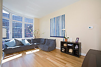 Living Room at 555 West 59th Street