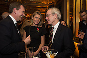 MIKE SOUTER; ANNALIES VAN DEN BELT; RICHARD HALL, The launch of the 1939 Register, hosted by The National Archives and Findmypast to celebrate one of the most important documents in modern British history. POMPADOUR BALLROOM, HOTEL CAFÉ ROYAL<br /> 68 Regent Street, London. 3 November 2015