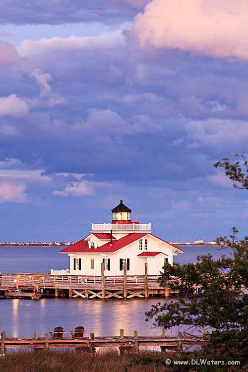 Clouds at Roanoke Marshes Lighthouse on the Manteo waterfront.
