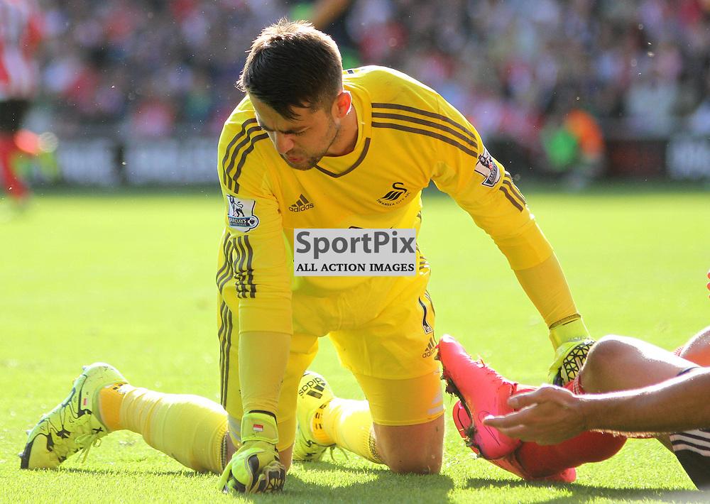 Lukasz Fabianski During Southampton vs Swansea on Saturday 26th September 2015.