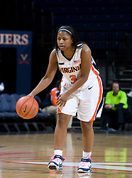 Virginia guard Paulisha Kellum (3) in action against Morehead State.  The Virginia Cavaliers women's basketball team defeated the Morehead State Eagles 88-43 at the John Paul Jones Arena in Charlottesville, VA on February 4, 2008.
