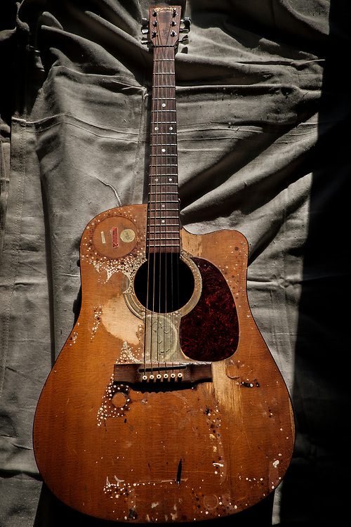 ELKTON, MARYLAND - DECEMBER 26: Zane Cambell's guitar in his home in Elkton, Maryland on Tuesday, December 26, 2017 in Elkton, Maryland. Zane Campbell was born into one of the most revered clans of old-time country music. His aunt was the legendary singer-songwriter Ola Belle Reed, and his uncle was Alex Campbell, a bluegrass singer who hosted shows at the country music parks along the Pennsylvania/Maryland border. (Photo by Pete Marovich For The Washington Post)