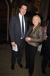 GEORGE OSBORNE MP and DAME MARY MARSH at a reception for the third NSPCC Hall of Fame Awards Ceremony in the Members Dining Room, The House of Commons, London on 15th May 2007.<br />