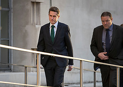 © Licensed to London News Pictures. 29/01/2018. London, UK. Defence Secretary Gavin Williamson (L) arrives at the Ministry of Defence. Mr Williamson has faced criticism over his actions in his private life before he became an MP. Photo credit: Peter Macdiarmid/LNP