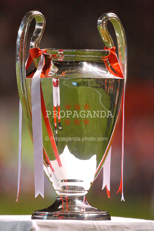 Manchester, England - Tuesday, March 13, 2007: The European Champions' Cup on display before the UEFA Celebration Match between Manchester United and a Europe XI. (Pic by David Rawcliffe/Propaganda)