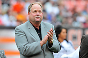 Sept. 19, 2010; Cleveland, OH, USA; Cleveland Browns president Mike Holmgren during halftime of the game between the Cleveland Browns and the Kansas City Chiefs at Cleveland Browns Stadium. Mandatory Credit: Jason Miller-US PRESSWIRE