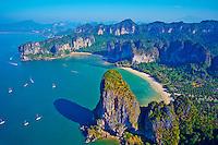 Thailande, province de Krabi, peninsule de Railay, plage de Tonsay // Thailand, Krabi province, Railay Bay, Tonsay beach
