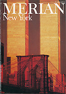 Merian Magazine Cover, New York, Brooklyn Bridge and Twin Towers