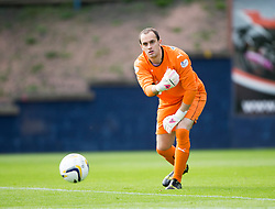Falkirk's keeper Jamie MacDonald.<br /> Raith Rovers 0 v 0 Falkirk, Scottish Championship game played 27/9/2014 at Raith Rovers Stark Park.