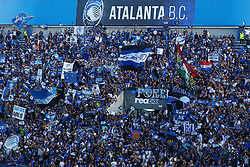 September 14, 2017 - Reggio Emilia, Italy - Atalanta supporters during the warm up  during the UEFA Europa League Group E football match Atalanta vs Everton at The Stadio Città del Tricolore in Reggio Emilia on September 14, 2017. (Credit Image: © Matteo Ciambelli/NurPhoto via ZUMA Press)