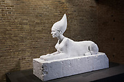 "Venezia - Punta della Dogana . La mostra di Damien Hirst: ""Tresaures from the Wreck of Unbelievable. ""Sphinx""."