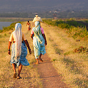 NO ROADS, 60 years of indendance, India still dont have sufficiant transportation facilities! some woman are going home after finishing works, they need to walk 15-20kms dailyto get to the work and the same distance back, some times thye need to carry things on their heads!