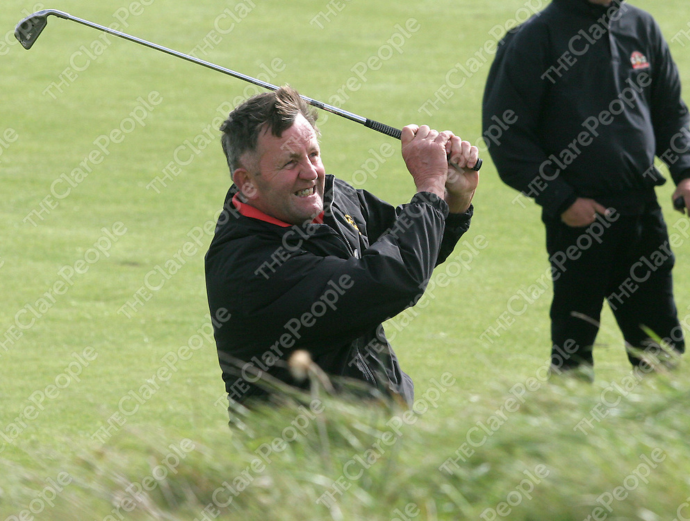 28.09.05.<br /> Irelands Michael Morris on the 10th fairway at Lehinch Golf Club, Co. Clare during the Seniors Home Internationals 2005.Picture: Alan Place/Press 22.