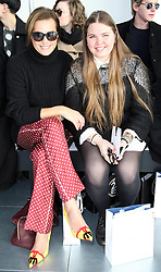 Yasmin Le Bon and her daughter Tallulah at the Antonio Berardi show at London Fashion Week Autumn/Winter 2013 ,Monday, 18th February 2013  Photo by: Stephen Lock / i-Images