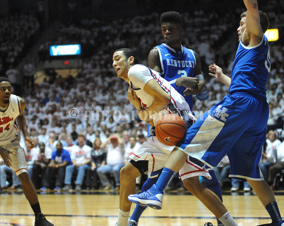 """Ole Miss vs. Kentucky at the C.M. """"Tad"""" Smith Coliseum on Tuesday, January 29, 2013."""