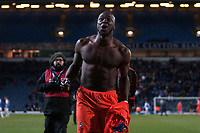 Football - 2012 / 2013 FA Cup - Sixth Round Replay - Blackburn Rovers vs. Millwall<br /> Millwall's Danny Shittu celebrates victory at Ewood Park