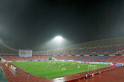 23.07.2011, Rajamangala National Stadium, Bangkok, THA, Chelsea FC Asia Tour, Training, im Bild // Chelsea's players training during a torrential downpour of rain during a training session at Rajamangala National Stadium in Bangkok on the club's preseason Asia Tour, EXPA Pictures © 2011, PhotoCredit: EXPA/ Propaganda/ D. Rawcliffe *** ATTENTION *** UK OUT!