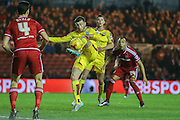 Burnley midfielder David Jones  clears the danger during the Sky Bet Championship match between Middlesbrough and Burnley at the Riverside Stadium, Middlesbrough, England on 15 December 2015. Photo by Simon Davies.