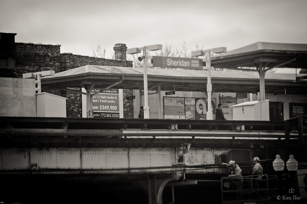 Sheridan Rd. El Stop (Red Line) in the far northside of Chicago