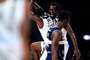 ILCE-9M2 • FE 400mm F2.8 GM OSS<br /> f/3.2 • ISO 2500 • 1/1250<br /> <br /> MartinKelvin e BrownJohn Esultanza <br /> Happy Casa Brindisi - Pompea Fortitudo Bologna <br /> LBA Final Eight 2020 Zurich Connect - Semifinale<br /> Basket Serie A LBA 2019/2020<br /> Pesaro, Italia - 15 February 2020<br /> Foto Mattia Ozbot / CiamilloCastoria