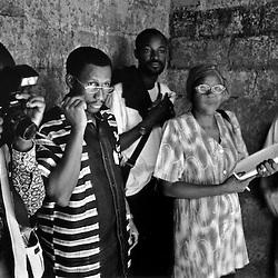 Boubakar Diallo, during the shooting of L'or des Younga, Ouagadougou, 2006.
