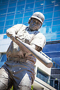 Memorial Sculpture of Padres Baseball Player Tony Gwynn