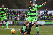 Forest Green Rovers Junior Mondal(25) during the EFL Sky Bet League 2 match between Forest Green Rovers and Yeovil Town at the New Lawn, Forest Green, United Kingdom on 16 February 2019.