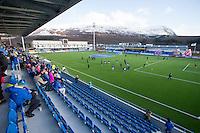 1. divisjon fotball 2015: Hødd - Fredrikstad.  Stadion fylles til åpningskampen mellom mellom Hødd og Fredrikstad på Høddvoll.