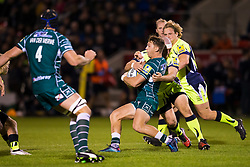 Alex Lewington of London Irish takes on Alex Tarus of Sale Sharks - Mandatory by-line: Matt McNulty/JMP - 15/09/2017 - RUGBY - AJ Bell Stadium - Sale, England - Sale Sharks v London Irish - Aviva Premiership