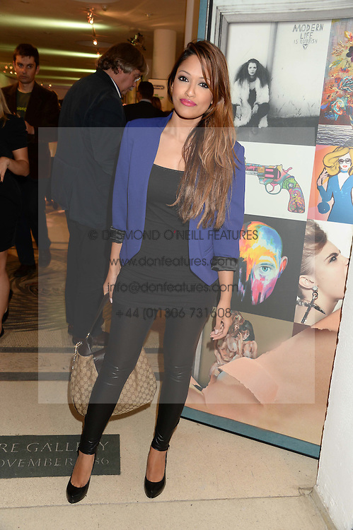 TV presenter TASMIN LUCIA-KHAN at the Macmillan De'Longhi Art Auction 2013 held at the Royal College of Art, London on 23rd September 2013.