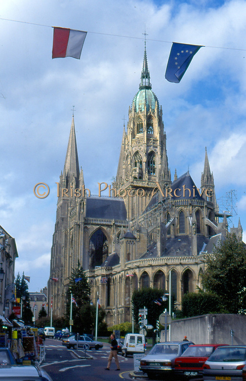 France, Normandy.  Bayeux, Cathedrale Notre-Dame.
