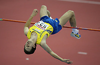 Photo: Rich Eaton.<br /> <br /> EAA European Athletics Indoor Championships, Birmingham 2007. 04/03/2007. Stefan Holm of Sweden wins gold in the mens high jump