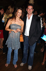 MISS ARABELLA MUSGRAVE and the HON.JAMES TOLLEMACHE at a party in association with the Hurlingham Polo Association and AJM International publishing to celebrate the forthcoming Cartier International Polo day held at The Collection, 264 Brompton Road, London on 20th July 2004.
