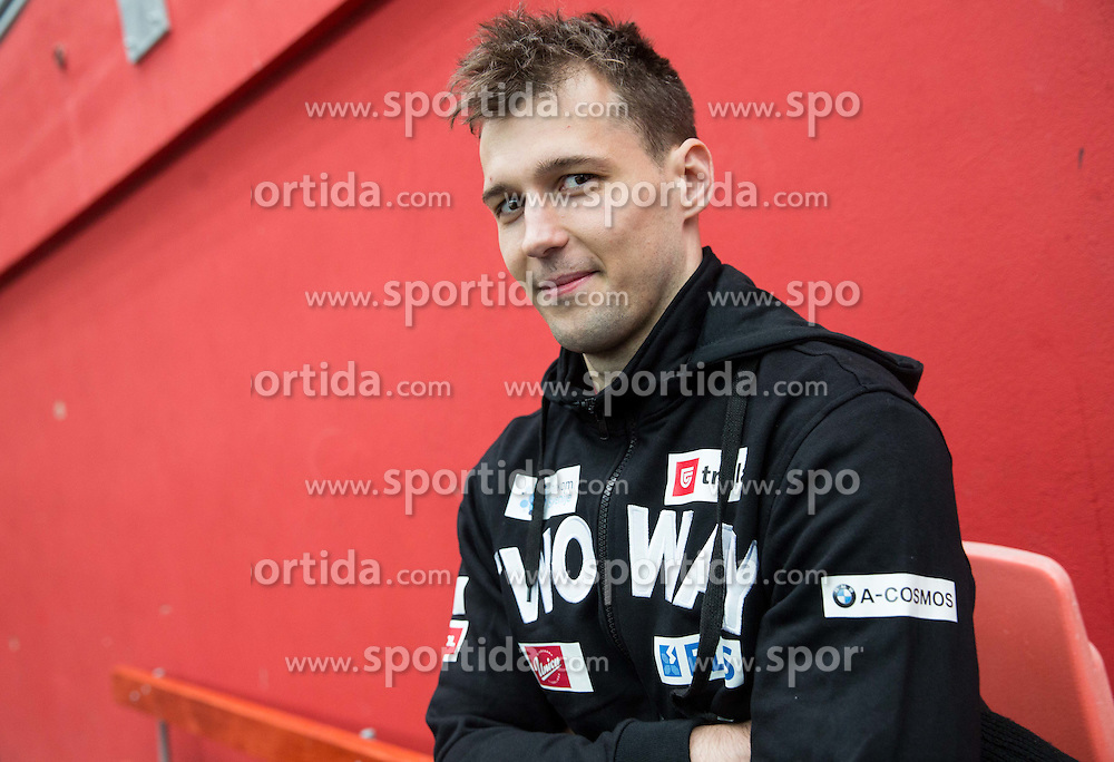 Ales Kranjc during first meeting of Slovenian Ice Hockey National Team for IIHF World Championships Ostrava 2015, on April 5, 2015 in Arena Podmezakla, Jesenice, Slovenia. Photo by Vid Ponikvar / Sportida