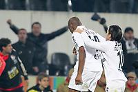 20120103: GUIMARAES, PORTUGAL - Portuguese League Cup, 3rd Stage, Round 1: VSC Guimaraes vs SL Benfica. <br /> In photo: Guimaraes players celebrate a goal.<br /> PHOTO: CITYFILES